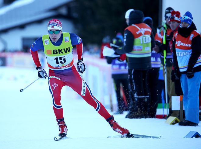 FINN HÅGEN KROGH vann sprintvärldscupen förra säsongen, men han nådde inte upp i Davos den gångna helgen. Foto/rights: STEPHAN KAUFMANN/sweski.com