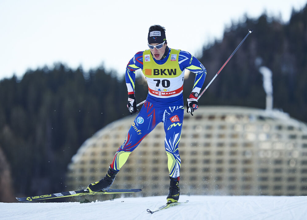 13.12.2015, Davos, Switzerland (SUI):Lucas Chanavat (FRA) - FIS world cup cross-country, individual sprint, Davos (SUI). www.nordicfocus.com. © Felgenhauer/NordicFocus. Every downloaded picture is fee-liable.