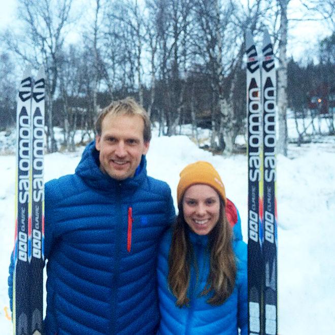 JERRY AHRLIN och Lina Korsgren vann säsongens första långlopp i Sverige i Vålådalen under söndagen. Foto: ELISABETH HANSSON