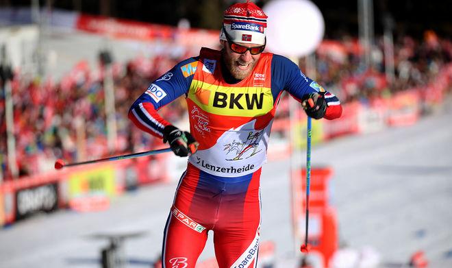 MARTIN JOHNSRUD SUNDBY är killen att slå i lördagens masstart över 30 km i Tour de Ski. Han är obesegrad i världscupens distanslopp den här säsongen och han är titelförsvarare på Touren. Foto/rights: MARCELA HAVLOVA/sweski.com