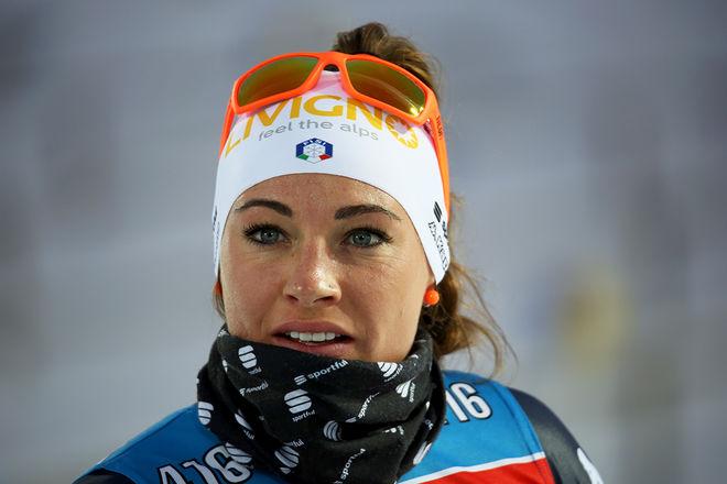 DEN ITALIENSKA skidskyttestjärnan Dorothea Wierer ser ut att förlora båda sina tränare inför den kommande säsongen. Foto/rights: KJELL-ERIK KRISTIANSEN/KEK-stock