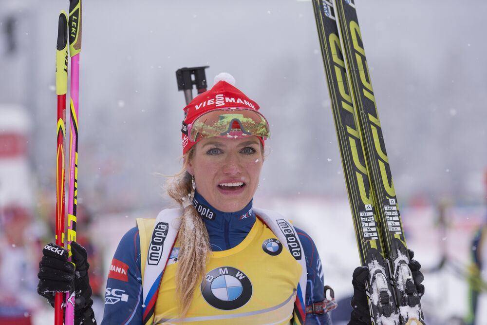 16.01.2016, Ruhpolding, Germany (GER):Gabriela Soukalova (CZE) -  IBU world cup biathlon, mass women, Ruhpolding (GER). www.nordicfocus.com. © Manzoni/NordicFocus. Every downloaded picture is fee-liable.