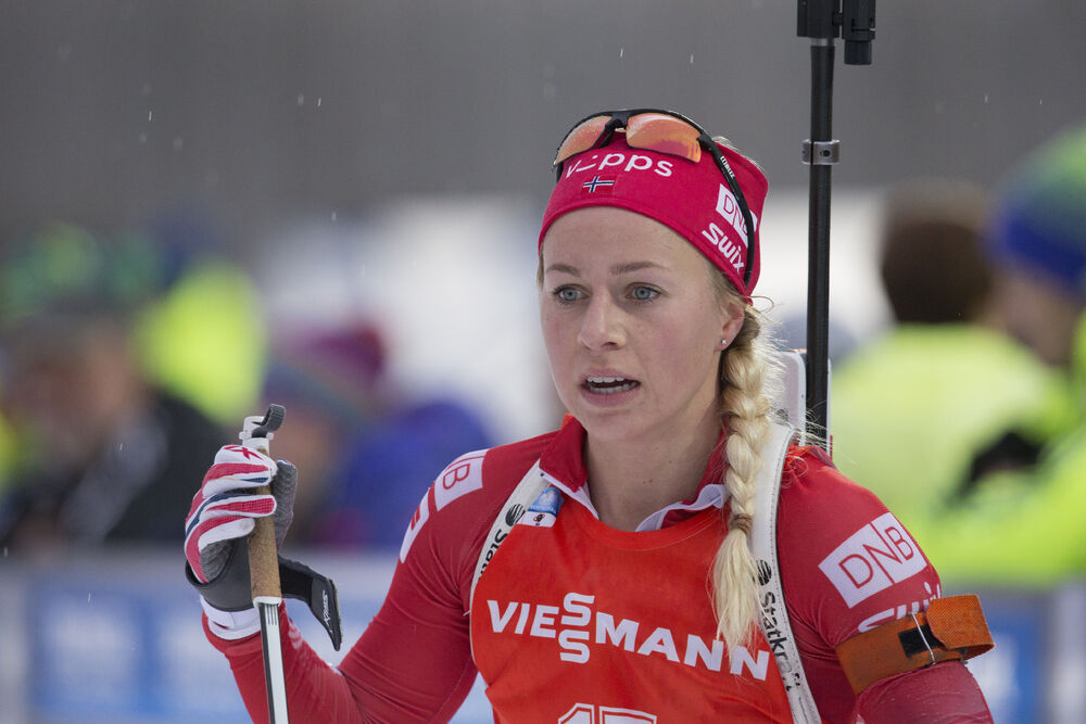 09.01.2016, Ruhpolding, Germany (GER):Tiril Eckhoff (NOR) -  IBU world cup biathlon, pursuit women, Ruhpolding replacing Oberhof (GER). www.nordicfocus.com. © Manzoni/NordicFocus. Every downloaded picture is fee-liable.