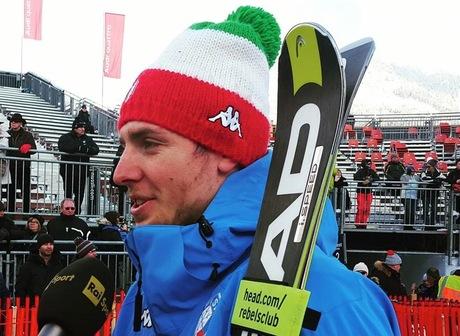 François D'Haene prêt pour le HK100 (ski )