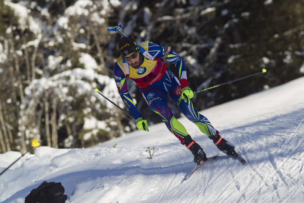 22.01.2016, Antholz, Italy (ITA):Martin Fourcade (FRA) -  IBU world cup biathlon, sprint men, Antholz (ITA). www.nordicfocus.com. © Manzoni/NordicFocus. Every downloaded picture is fee-liable.