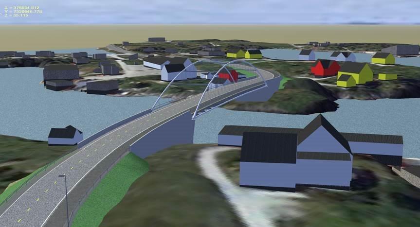 Modell av Herøysundbrua