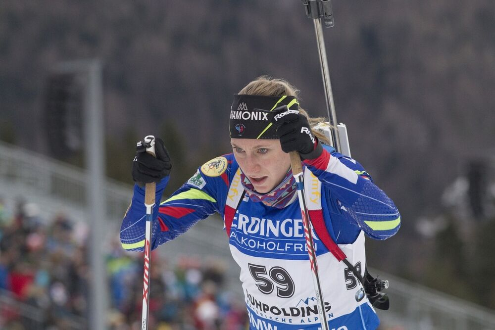 08.01.2016, Ruhpolding, Germany (GER):Enora Latuilliere (FRA) -  IBU world cup biathlon, sprint women, Ruhpolding replacing Oberhof (GER). www.nordicfocus.com. © Manzoni/NordicFocus. Every downloaded picture is fee-liable.