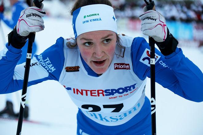 MOA LUNDGREN, IFK Umeå var klar tvåa efter suveränen Frida Karlsson, Sollefteå i damernas juniorklass. Foto/rights: KJELL-ERIK KRISTIANSEN/KEK-photo