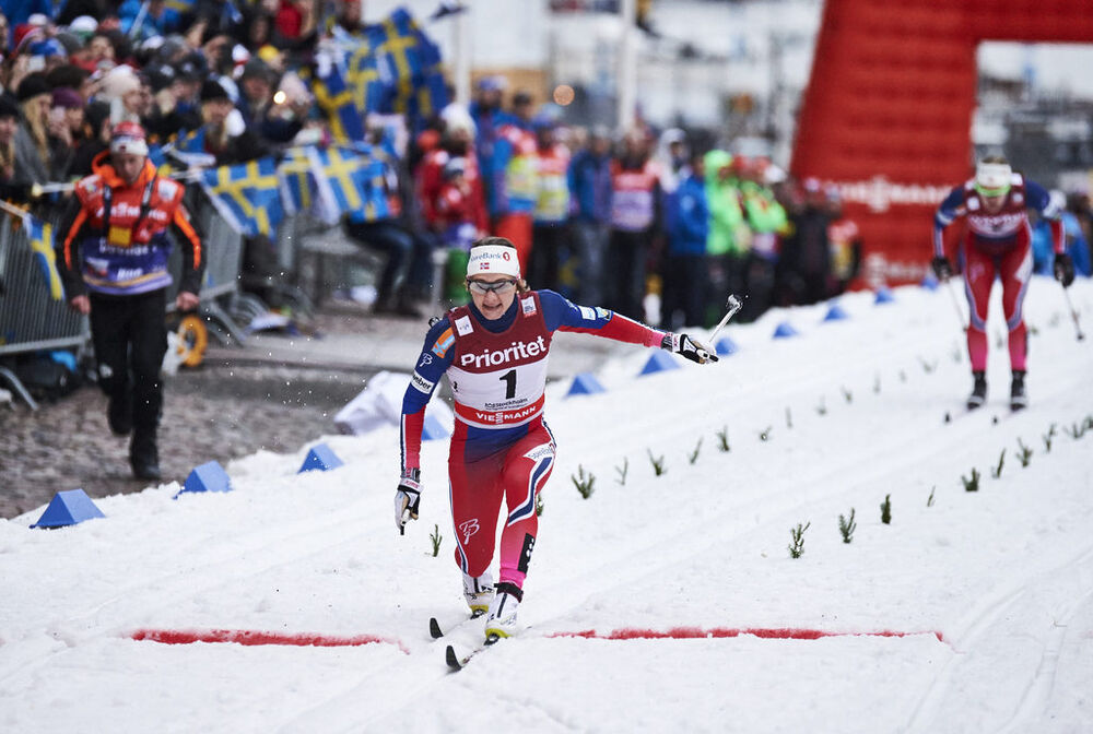11.02.2016, Stockholm, Sweden (SWE):Maiken Caspersen Falla (NOR) - FIS world cup cross-country, individual sprint, Stockholm (SWE). www.nordicfocus.com. © Felgenhauer/NordicFocus. Every downloaded picture is fee-liable.