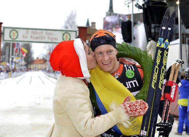 PETTER ELIASSEN skall försvara segern i Vasaloppet. Stak-experten från Norge har formen inne. Foto: NISSE SCHMIDT