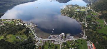 Eikefjord sentrum flyfoto