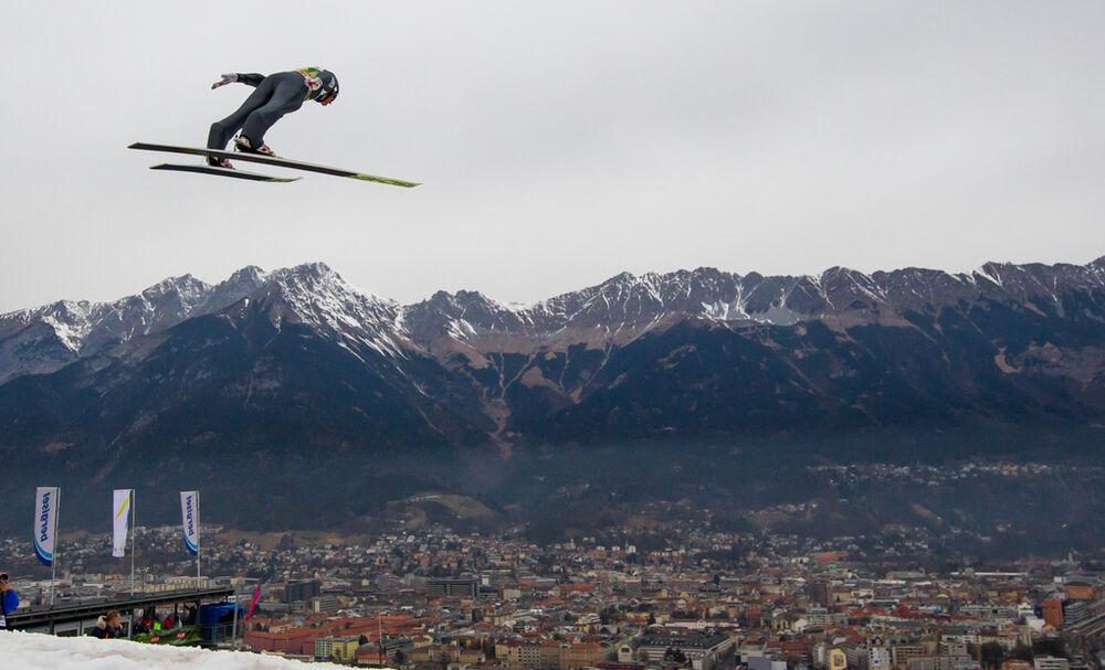02.01.2016, Innsbruck, Austria (AUT): Gregor Schlierenzauer (AUT), Fischer- FIS world cup ski jumping, four hills tournament, individual HS130, qualification, Innsbruck (AUT). www.nordicfocus.com. © Laiho/NordicFocus. Every downloaded picture is fee-lia