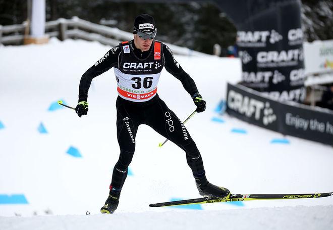SUPERSTJÄRNAN Dario Cologna vann Fjälltoppsloppet i Bruksvallarna, men han pressades hårt av Lars Nelson och Daniel Richardsson. Foto/rights: MARCELA HAVLOVA/sweski.com