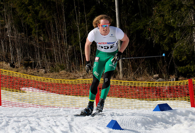 EMIL JOHANSSON, IK Jarl Rättvik var bäste svensk i H21 på tredje plats efter Maciej Starega, Polen och Dario Cologna, Schweiz. Foto/rights: KJELL-ERIK KRISTIANSEN/sweski.com