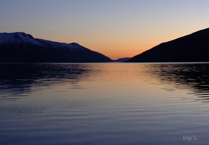 Solnedgang Sognefjorden