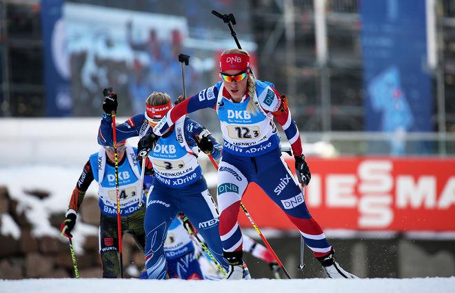 TIRIL ECKHOFF har växt upp i Holmenkollen och nu avslutade hon säsongen med att vinna masstarten i årets sista världscuptävling. Foto/rights: MARCELA HAVLOVA/sweski.com