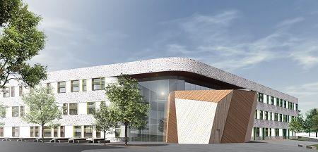 Illustrasjon fasade Bjørlien skole Foto: LINK arkitektur/ Multiconsult