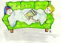 syk elev - tegnet bilde