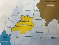 Kart Askim-Hobøl-Spydeberg