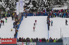 23.01.2016, Antholz, Italy (ITA):Simon Eder (AUT), Simon Schempp (GER), Anton Shipulin (RUS), (l-r) -  IBU world cup biathlon, pursuit men, Antholz (ITA). www.nordicfocus.com. © Manzoni/NordicFocus. Every downloaded picture is fee-liable.