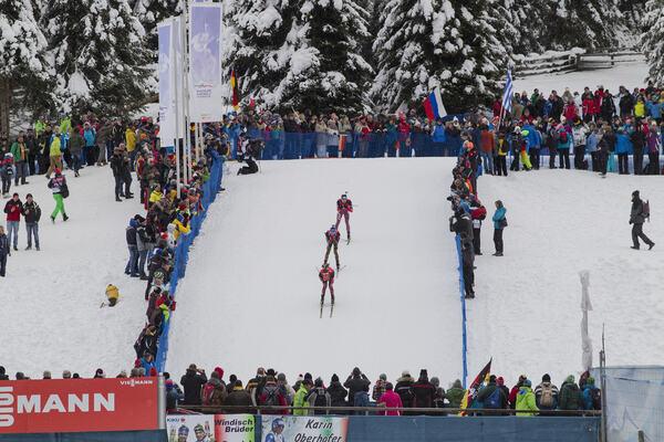 23.01.2016, Antholz, Italy (ITA):Simon Eder (AUT), Simon Schempp (GER), Anton Shipulin (RUS), (l-r) - IBU world cup biathlon, pursuit men, Antholz (ITA). www.nordicfocus.com. © Manzoni/NordicFocus. Every downloaded picture is fee-liable. NordicFocus
