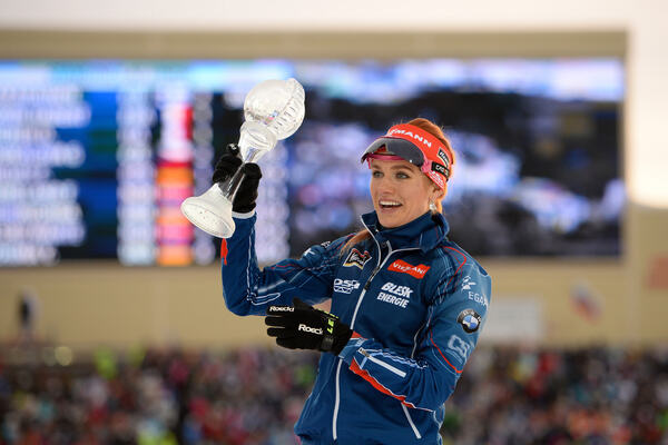19.03.2016, Khanty-Mansiysk, Russia (RUS):Gabriela Soukalova (CZE) - IBU world cup biathlon, cups, Khanty-Mansiysk (RUS). www.nordicfocus.com. © Tumashov/NordicFocus. Every downloaded picture is fee-liable. NordicFocus