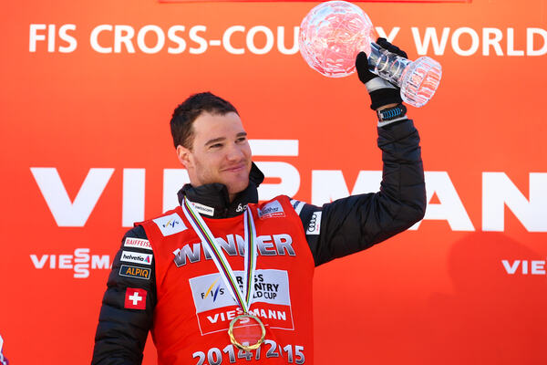 14.03.2015, Oslo, Norway (NOR): distance world cup winner Dario Cologna (SUI), Fischer, One Way, Rottefella, Odlo- FIS world cup cross-country, mass men, Oslo (NOR). www.nordicfocus.com. © Laiho/NordicFocus. Every downloaded picture is fee-liable. NordicFocus
