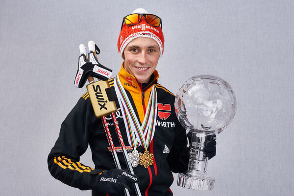 14.03.2015, Oslo, Norway (NOR): Eric Frenzel (GER)- FIS world cup nordic combined, cups, Oslo (NOR). www.nordicfocus.com. © Felgenhauer/NordicFocus. Every downloaded picture is fee-liable. NordicFocus