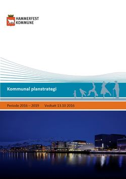 Kommunal planstrategi - periode 2016 - 2019