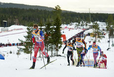05.12.2015, Lillehammer, Norway (NOR):Petter Northug (NOR), Dario Cologna (SUI), Andreas Katz (GER), Andrey Larkov (RUS), (l-r)  - FIS world cup cross-country, skiathlon men, Lillehammer (NOR). www.nordicfocus.com. © Felgenhauer/NordicFocus. Every downl