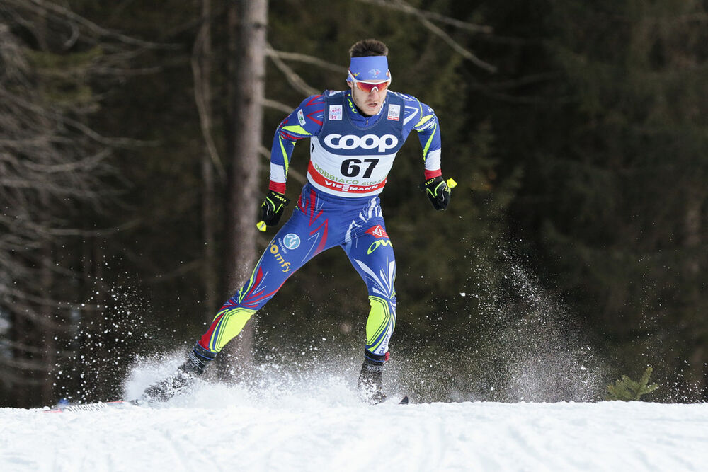 19.12.2015, Toblach, Italy (ITA):Clement Arnault (FRA) - FIS world cup cross-country, individual sprint, Toblach (ITA). www.nordicfocus.com. © Modica/NordicFocus. Every downloaded picture is fee-liable.