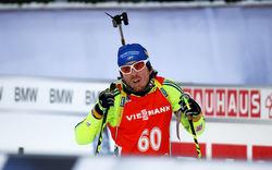 HÄR ÄR Ted Armgren i världscupen i skidskytte i Östersund förra vintern. Foto/rights: MARCELA HAVLOVA/sweski.com