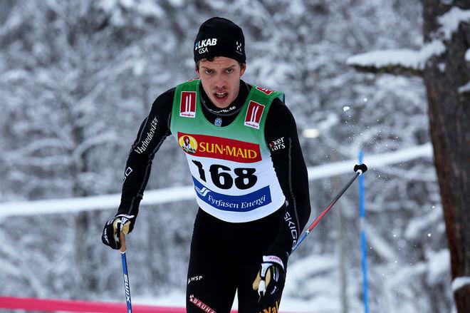 MARCUS HELLNER kom närmare och närmare på slutet, men han fick stryk med drygt 5 sekunder av Johan Olsson. Foto/rights: KJELL-ERIK KRISTIANSEN/sweski.com