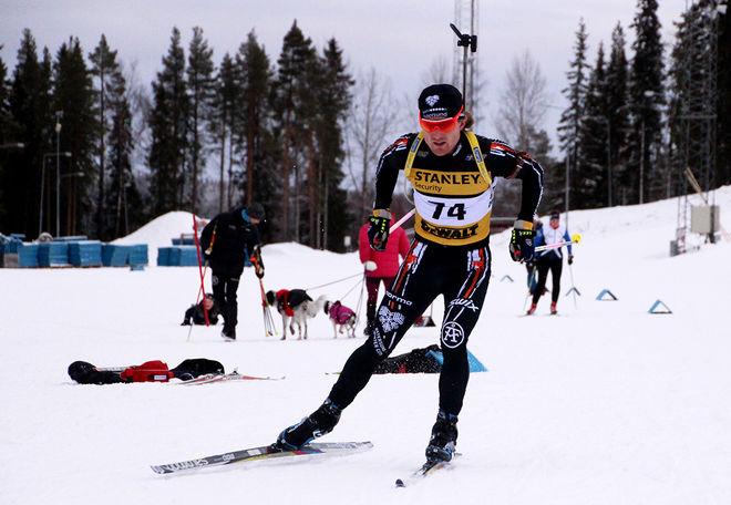 JESPER NELIN imponerade vid skidskyttepremiären i Östersund under lördagen. Foto: HÅKAN BLIDBERG