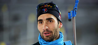 MARTIN FOURCADE är storfavorit på herrarnas 20 km distans i Östersund under torsdagskvällen. Han vann fyra VM-guld förra säsongen. Foto/rights: KJELL-ERIK KRISTIANSEN/sweski.com