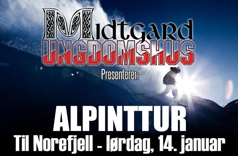 Alpintur til Norefjell med Midtgard illustrasjonsbilde