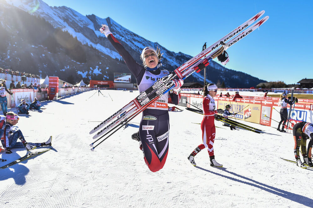 17.12.2016, La Clusaz, France (FRA):Heidi Weng (NOR) - FIS world cup cross-country, mass women, La Clusaz (FRA). www.nordicfocus.com. © Thibaut/NordicFocus. Every downloaded picture is fee-liable.