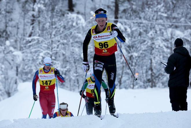FELIX FORSBERG från Järpen var snabbast i prologen i H17-18 vid Scandic Cup-sprinten i Boden. Foto/rights: KJELL-ERIK KRISTIANSEN/sweski.com