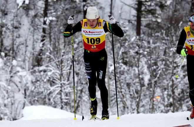 OSSIAN ROSENBERG från Duved (numera Åsarna IK) var bäste svensk som 3:a när den nordiska juniorlandskampen i finska Vuokatti inleddes med fristilssprint under fredagen. Foto/rights: KJELL-ERIK KRISTIANSEN/KEK-stock