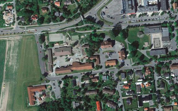 Flyfoto av Åsgård skole