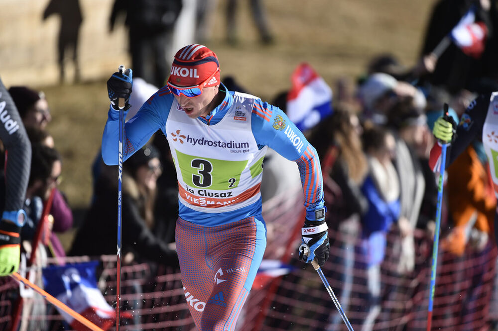18.12.2016, La Clusaz, France (FRA):Alexander Legkov (RUS) - FIS world cup cross-country, 4x7.5km men, La Clusaz (FRA). www.nordicfocus.com. © Thibaut/NordicFocus. Every downloaded picture is fee-liable.