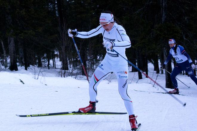 SOFIA HENRIKSSON vann D21 klart. Näst snabbast över 9 km var D19-20-segrarinnan Maja Majbäck, Jukkasjärvi. Foto: ARRANGÖREN