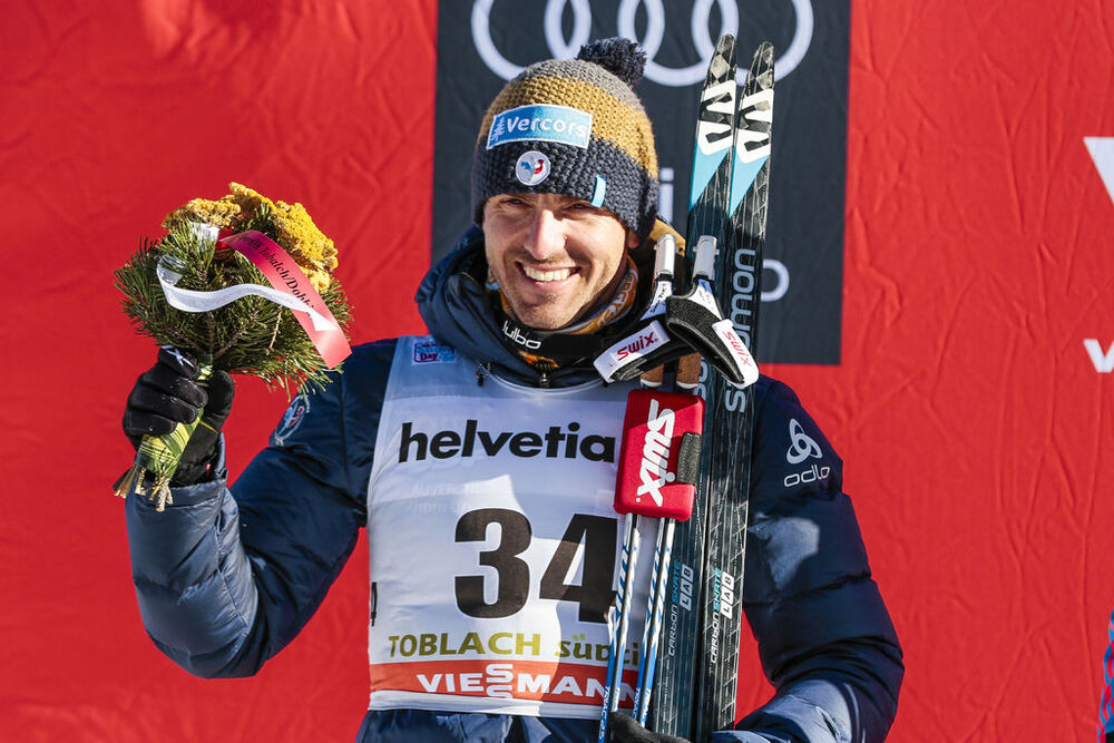06.01.2017, Toblach, Italy (ITA):Maurice Manificat (FRA) - FIS world cup cross-country, tour de ski, 10km men, Toblach (ITA). www.nordicfocus.com. © Modica/NordicFocus. Every downloaded picture is fee-liable.