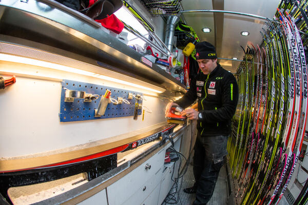 14.12.2013, Davos, Switzerland (SUI): inside view in the canadian wax truck- FIS world cup cross-country, training, Davos (SUI). www.nordicfocus.com. © Laiho/NordicFocus. Every downloaded picture is fee-liable. NordicFocus