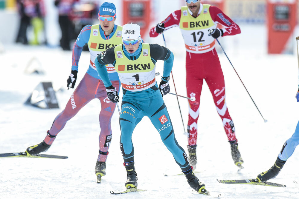 11.12.2016, Davos, Switzerland (SUI):Lucas Chanavat (FRA) - FIS world cup cross-country, individual sprint, Davos (SUI). www.nordicfocus.com. © Modica/NordicFocus. Every downloaded picture is fee-liable.