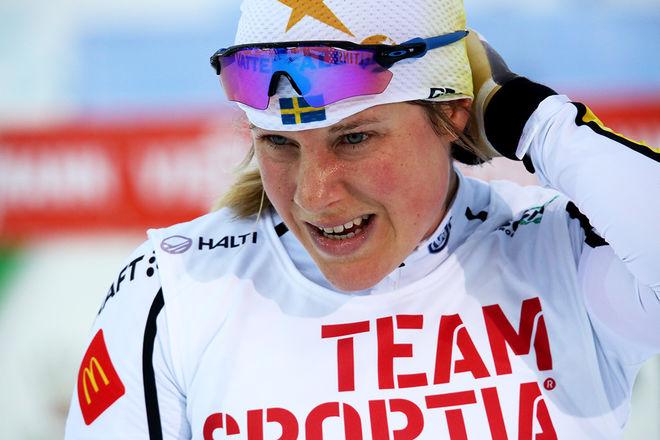 HANNA FALK vann kvalet i världscupfinalens sprint i Quebec efter en imponerande insats. Foto/rights: KJELL-ERIK KRISTIANSEN/sweski.com