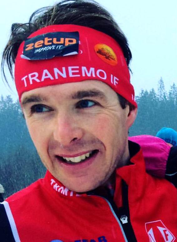 MARKUS JÖNSSON vann Götalandsmästerskapen på hemmaplan i Tranemo i spurtuppgörelse mot IK Sterns Alfred Buskqvist. Foto: PRIVAT