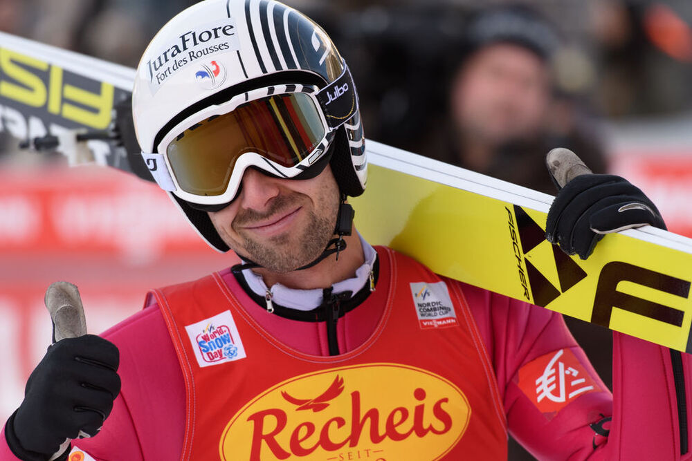 17.12.2016, Ramsau, Austria (AUT):Maxime Laheurte (FRA) - FIS world cup nordic combined, individual gundersen HS96/10km, Ramsau (AUT). www.nordicfocus.com. © Rauschendorfer/NordicFocus. Every downloaded picture is fee-liable.