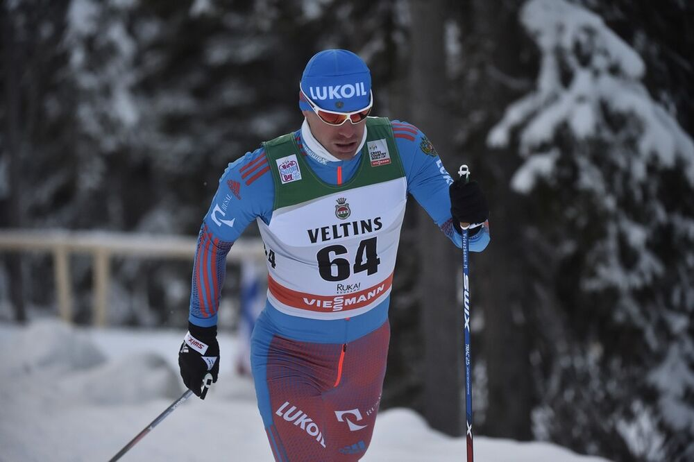 27.11.2016, Ruka, Finland (FIN):Maxim Vylegzhanin (RUS) - FIS world cup cross-country, 15km men, Ruka (FIN). www.nordicfocus.com. © THIBAUT/NordicFocus. Every downloaded picture is fee-liable.