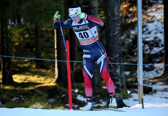 MARIT BJØRGEN vann 10 km fristil i Ulricehamn under lördagen. Nu hoppas hon åka fem tävlingar på VM i Lahtis, men hon har redan valt bort teamsprinten. Foto/rights: MARCELA HAVLOVA/sweski.com